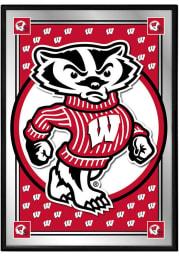 Wisconsin Badgers Mascot Team Spirit Mirrored Wall Sign