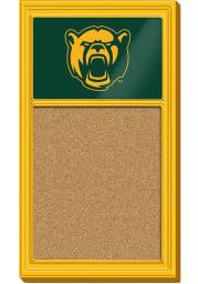 Baylor Bears Logo Cork Noteboard Sign