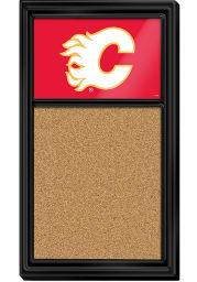 Calgary Flames Cork Noteboard Sign