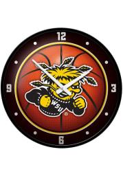 Wichita State Shockers Basketball Modern Disc Wall Clock