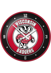 Wisconsin Badgers Modern Disc Wall Clock