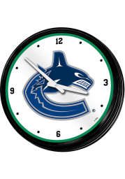 Vancouver Canucks Retro Lighted Wall Clock