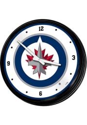Winnipeg Jets Retro Lighted Wall Clock