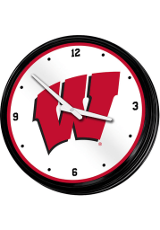 Wisconsin Badgers Retro Lighted Wall Clock