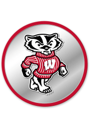Wisconsin Badgers Mascot Modern Disc Mirrored Wall Sign