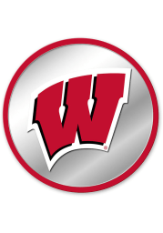 Wisconsin Badgers Modern Disc Mirrored Wall Sign