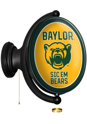 Baylor Bears Bear Logo Oval Rotating Lighted Sign