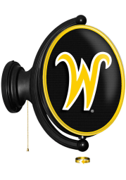 Wichita State Shockers Script Oval Rotating Lighted Sign