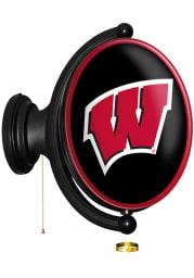 Wisconsin Badgers Oval Illuminated Rotating Sign