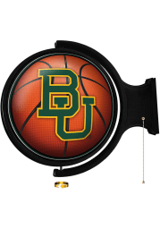 Baylor Bears Basketball Round Rotating Lighted Sign