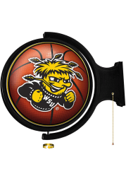 Wichita State Shockers Basketball Round Rotating Lighted Sign