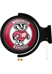 Wisconsin Badgers Mascot Round Rotating Lighted Sign