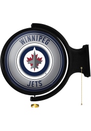 Winnipeg Jets Round Rotating Lighted Sign