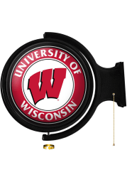 Wisconsin Badgers Round Rotating Lighted Sign