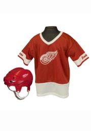 Detroit Red Wings Hockey Helmet/Jersey Set