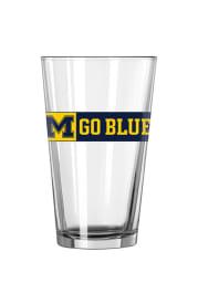 Michigan Wolverines Go Blue Pint Glass