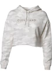 Cleveland Womens Green Wordmark Hooded Sweatshirt