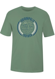 Indianapolis Green 90s Flyer Short Sleeve T Shirt