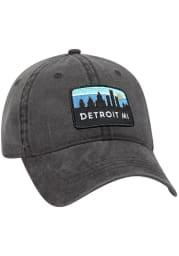 Detroit Retro Sky Vintage Adjustable Hat - Charcoal