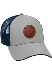 Dallas Ft Worth Starry Scape Leather Patch Meshback Adjustable Hat - Grey