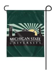 Michigan State Spartans Starburst Sky Garden Flag