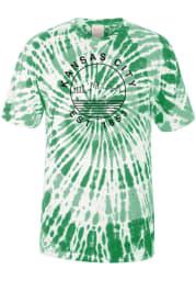 Kansas City Kelly Green Tie Dye Starry Skyline Short Sleeve T Shirt