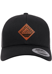 Dallas Ft Worth Faux Leather Patch Elevated Trucker Adjustable Hat - Black