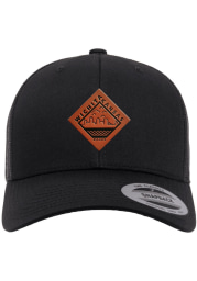Wichita Faux Leather Patch Elevated Trucker Adjustable Hat - Black