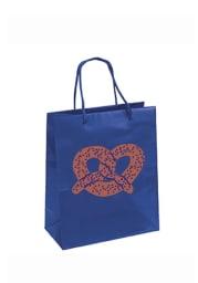 Philadelphia 10x12 Metallic Pretzel Blue Gift Bag