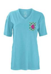 Missouri Western Griffons Womens Blue Quatrafoil Short Sleeve Unisex Tee