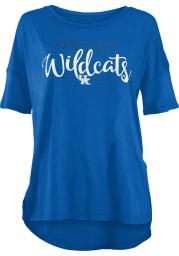 Kentucky Wildcats Womens Blue Hip Script Short Sleeve T-Shirt