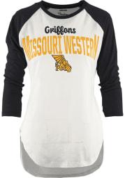 Missouri Western Griffons Womens Black Quin Long Sleeve Crew T-Shirt