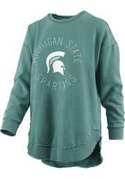 Michigan State Spartans Womens Green Bakersfield Crew Sweatshirt