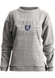 Xavier Musketeers Womens Oatmeal Odessa Crew Sweatshirt