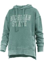 Michigan State Spartans Womens Green Marni Hooded Sweatshirt