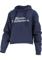Xavier Musketeers Womens Navy Blue California Dreaming Hooded Sweatshirt