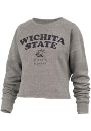 Wichita State Shockers Womens Grey Visalia Crew Sweatshirt