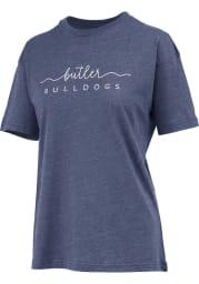 Butler Bulldogs Womens Navy Blue Melange Short Sleeve T-Shirt