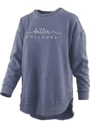 Butler Bulldogs Womens Navy Blue Vintage Burnout Crew Sweatshirt