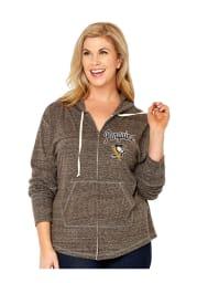 Pittsburgh Penguins Womens Grey Shadow Long Sleeve Full Zip Jacket