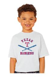 Texas Rangers Youth White Basic Bats Short Sleeve T-Shirt
