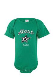 Dallas Stars Baby Green Script #1 Fan Short Sleeve One Piece