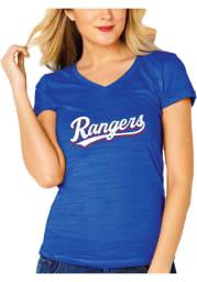 Texas Rangers Womens Blue Multi Count Short Sleeve T-Shirt