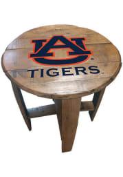 Auburn Tigers Team Logo Brown End Table