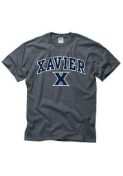 Xavier Musketeers Grey Arch Logo Short Sleeve T Shirt