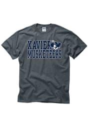 Xavier Musketeers Grey Slogan Short Sleeve T Shirt