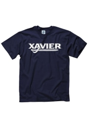 Xavier Musketeers Navy Blue Rally Loud Short Sleeve T Shirt