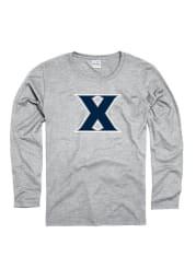 Xavier Musketeers Womens Grey Clean Logo Long Sleeve Women's Crew