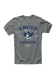 Xavier Musketeers Grey Throwback Short Sleeve T Shirt