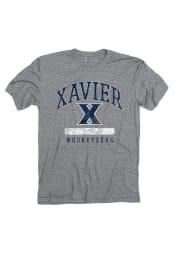 Xavier Musketeers Grey Faded Short Sleeve Fashion T Shirt